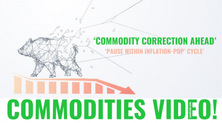 Commodities Video 2021 COMMODITY CORRECTION AHEAD' – 'PAUSE WITHIN INFLATION-POP' CYCLE' NEW VIDEO Financial Forecasting Elliott Wave